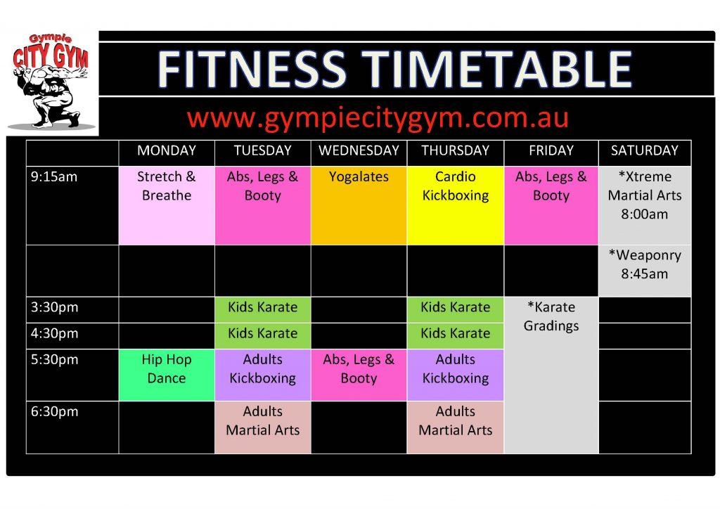 april timetable