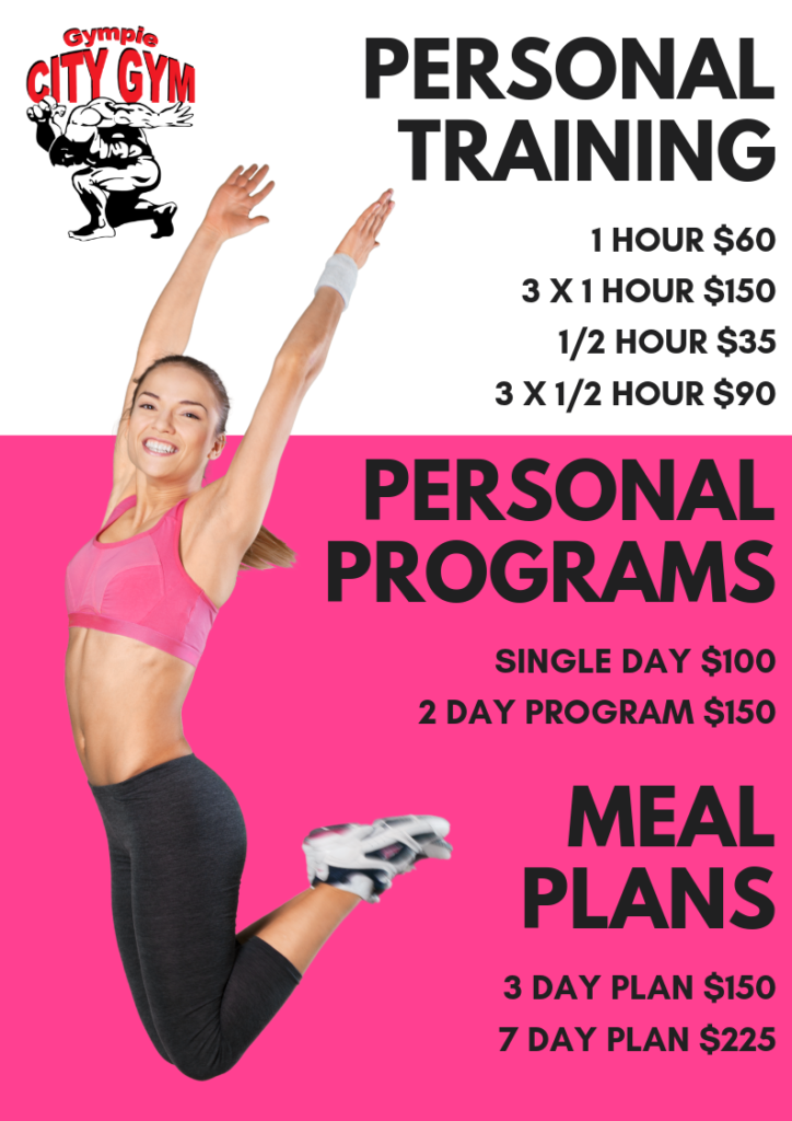 personal training and meal plan prices
